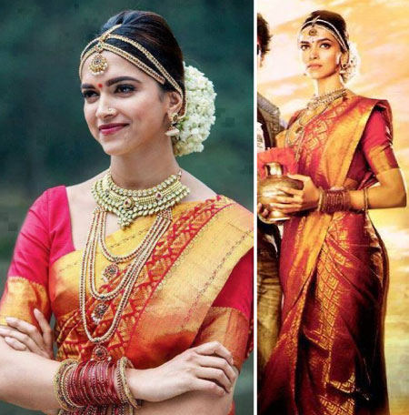 Deepika Padukone in her silk wedding saree in Chennai express| Temple jewellery and Kanjivaram Saree | Bollywood fashion | Wedding Lehengas | bollywood lehenga | designer lehenga