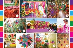 Indian Kitsch Mehndi Decor Ideas | Fun DIY Mehndi theme with super colourful Mehendi decor | Witty Vows | Free theme