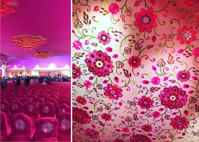 Keshav and Veena reddy wedding | designer decor detail by Abhu Sandeep lotus inspired Indian wedding decor | South Indian WEdding | Pink Indian wedding decor ideas