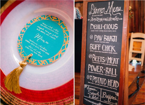 Menu Sample from caterer for Indian Wedding | Indian Wedding Menu | Wadding Caterer selection | Indian Wedding Food Ideas | Advice from the best caterers in Delhi |n Turquoise blue menu | Chalk board menu