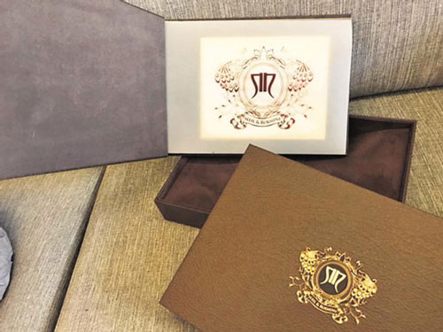 Neil nitin makes and wife rukmini | Indian wedding card ideas with monograms | Indian wedding invite ideas | Neil nitin mukesh's wedding card | Love Ballads by Mukesh | designed by Ravish kapoor