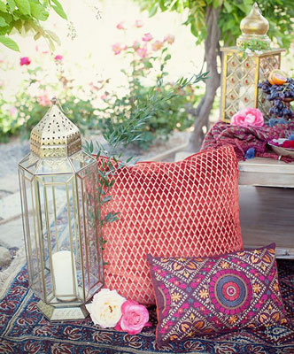 Sufi Noght decor ideas | Sangeet ideas | Moroccon cushions and lanterns for floor seating