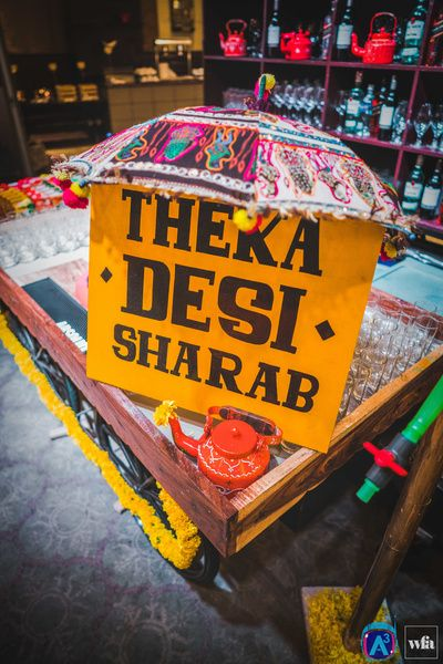 Wedding Caterer selection | Indian Wedding Food Ideas | Advice from the best caterers in Delhi | Kitschy fun signage for Indian Wedding Bar | decor by A3 project | Rajasthani fun mehndi theme decor