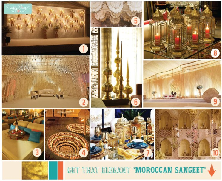 Colours for moroccon theme Sufi Night | Sangeet decor ideas | Free Sangeet Theme | Ivory with teal blue and orange | decor ideas for sufi sangeet