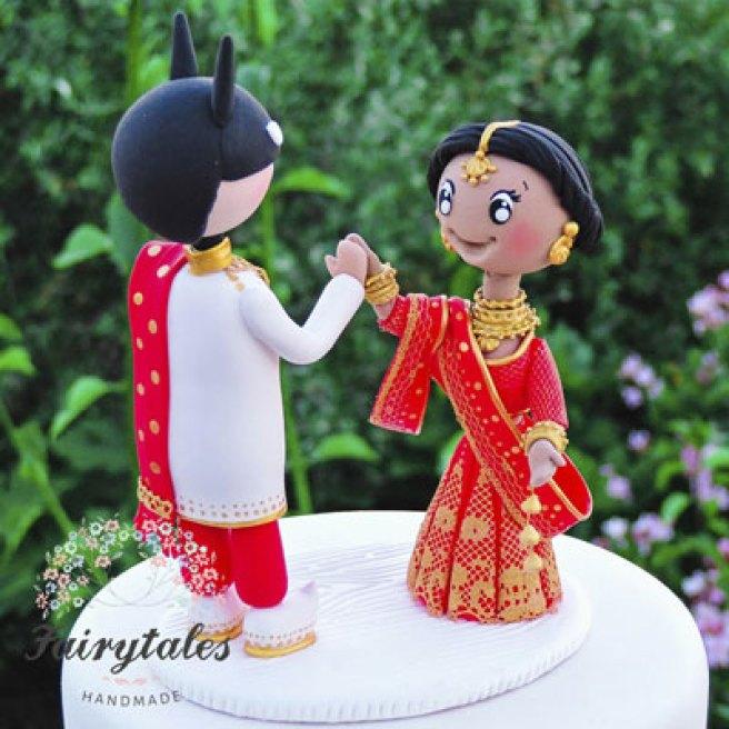 personalised wedding cakes   Indian Wedding Cakes   Adorable Indain couple cake topper