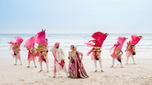 Indian wedding abroad |indain bride and groom on the beach | International destination wedding venues on a budget , Indian wedding destination abroad