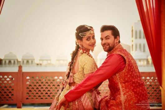 Neil Nitin Mukesh with wife Rukmini at their colourful Mehndi for their Udaipur wedding | Neil nitin Mukesh's wedding