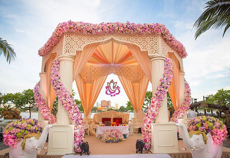 Stunning indian wedding mandap decor ideas to say i do under for Home decor ideas for indian wedding