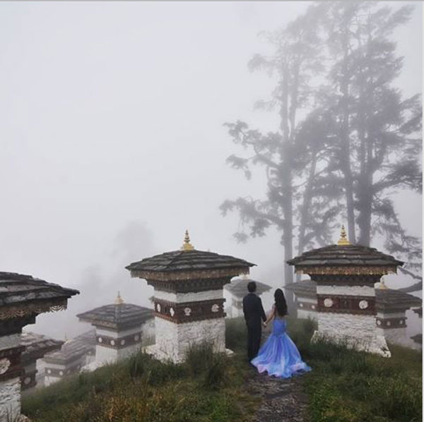 Indian wedding abroad | International destination wedding venues on a budget , Indian wedding destination abroad | Bhutan weddings | Indian pre wedding shoot in Bhutan