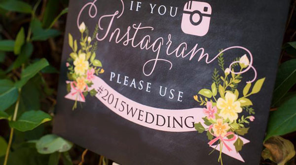 Indian Wedding hashtag guide | Rules to follow | Hashtag signage on chalkboard