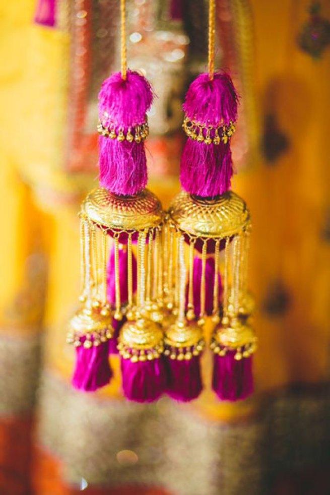 chura kalire designs | new kalire designs | kalira designs | Purple tassel in gold kalira with ghunghroo