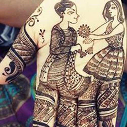 Love Story Henna The Trending New Bridal Mehndi Design Idea You Ll