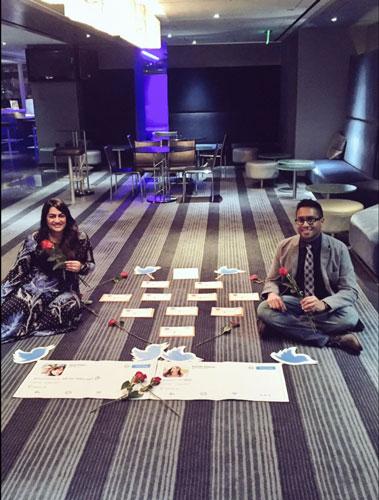 Anuj and Sushmita twitter proposal