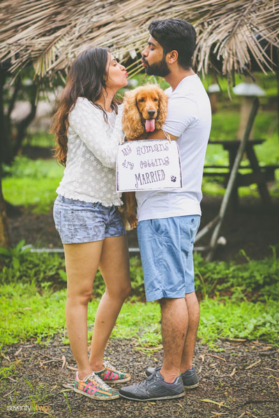 Indian pre wedding shoot with pets | seventy by two photography