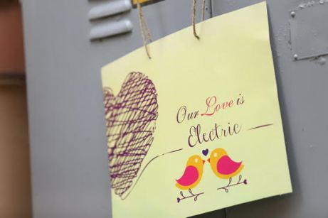 Love birds theme cute Mehndi decor with signages