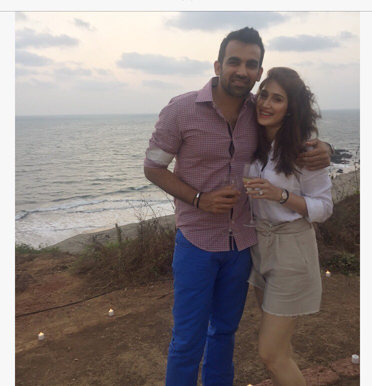 Zaheer khan and Sagrika Ghatge engagement