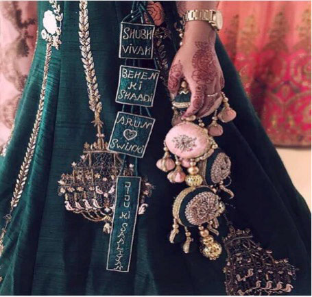 lehenga latkan ideas to spruce up your wedding lehenga | personalised latkans