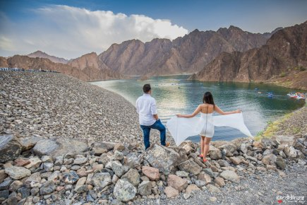 first anniversary idea, anupriya and ankit, aniversary photoshoot   Indian couple photoshoot in Dubai in matching white flowing dress and shirt