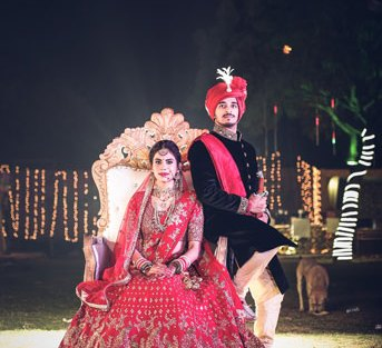 JyotPriya and Nishant | Punjabi wedding in Delhi | The perfectly captured royal and regal picture of the couple.