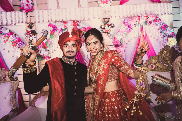 JyotPriya and Nishant | Punjabi wedding in Delhi | The happy couple dancing together on theri wedding day.