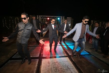 JyotPriya and Nishant | Punjabi wedding in Delhi | The groom dancing and rocking with his friends.