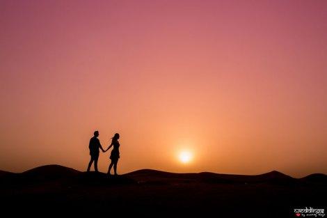 first anniversary idea, anupriya and ankit, aniversary photoshoot | Indian couple photoshoot in Dubai silhouette style at sunset