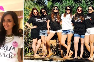 bachelorette t shirts from kishwer merchants party and Roshini chopra