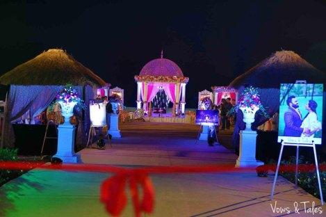 Bavleen and Kushal   Destination wedding in Goa   The perfect wedding decor with beautiful mandap looks gorgeous.