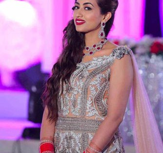 Bavleen and Kushal | Destination wedding in Goa | The bride looks beautiful in her reception gown.