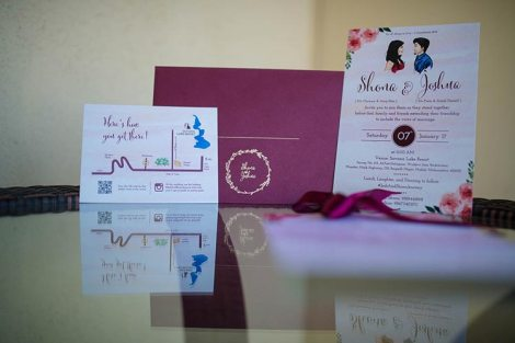 Joshua and Shona   Christian wedding   DIY ideas   The cutely done wedding card with all the little details.