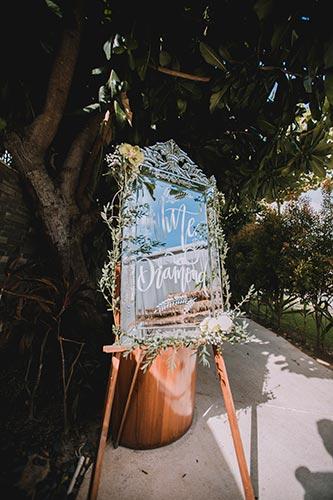 Sagar and Subiya   Destination wedding in Bali   The beuatiful sundowner poster looks great.
