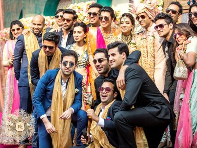 Nayana and Jai | Amazing Delhi wedding | Proposal story | Proposal ideas | The gang of boys posing with their shades on.