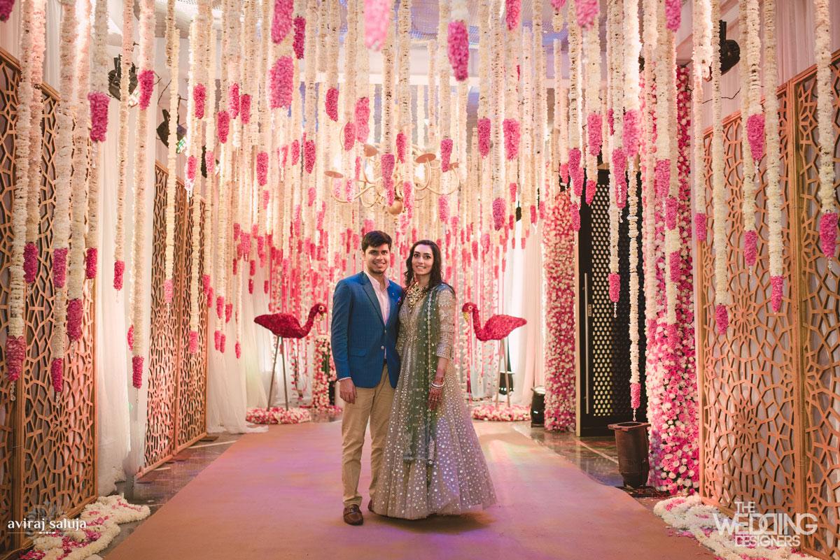 Jaya and Anish: A Roka ceremony with the most swoonworthy flower decor.