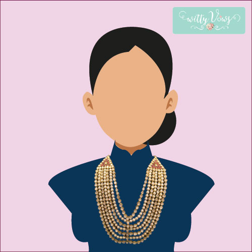 Indian Bridal Fashion | Bridal Necklace | high necklace
