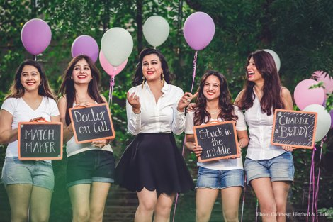BridesmaidShoot with props| Create memories with your BFF– Bridesmaids photoshoot Ideas WE LOVED!