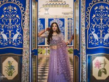 Ayushi Bangur in lilac lehenga | #Trending & HOW - Choose your bridal Lehenga colour from the HOTTEST colours of 2017!