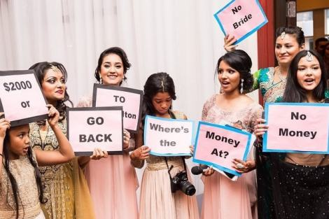 Cute photoshoot using props| Create memories with your BFF– Bridesmaids photoshoot Ideas WE LOVED!