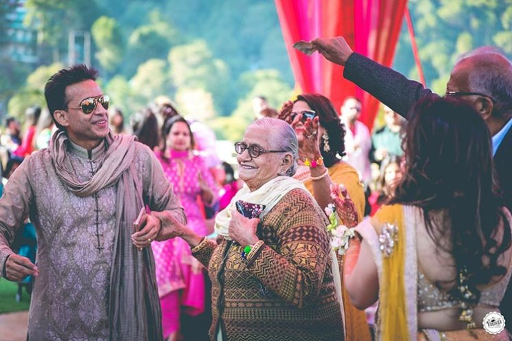 aaina and Shagun | hill station wedding in Kasauli with haldi ceremony ideas | Grandparents dancing at the wedding