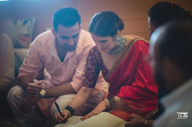 Registered marriage | #CelebrityWedding – Trends to steal from Zaheer Khan & Sagarika's wedding that's unreal!