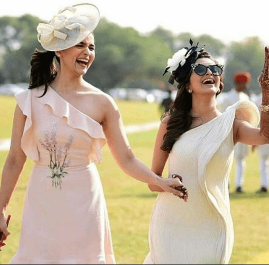 At the Polo themed brunch | Glamour, Girls and Goals – Trending & how #TheMehtaWedding in Jodhpur & its Bollywood Bridesmaid!