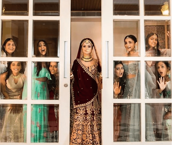 Kripa as Bride with her squad | Glamour, Girls and Goals – Trending & how #TheMehtaWedding in Jodhpur & its Bollywood Bridesmaid!