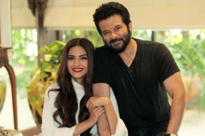 sonam and anl kapoor celebrity father daughter moments