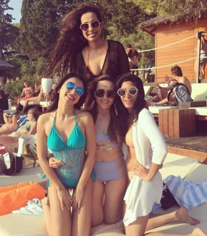 With her girl gang | #FriendshipDaySpecial – Indian bachelorette ideas from celebrity bridesmaids