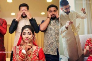 Indian bride with her brothers | Poses for the brother of the bride photos for your wedding | Indian wedding trends 2018