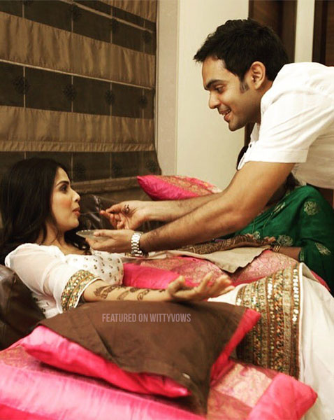 Indian bride with her brothers | Poses for the brother of the bride photos for your wedding | Indian wedding trends 2018 | Sister | Genelia d souza with her brother at her mehendi
