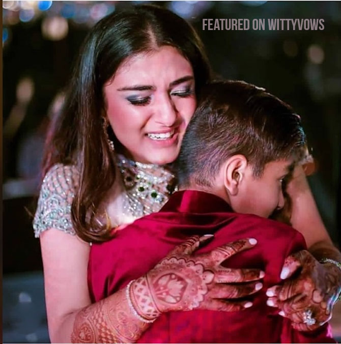 Indian bride with her brothers | Poses for the brother of the bride photos for your wedding | Indian wedding trends 2018 | cash studio wedding Goa | younger brother crying at vidai hugging bride