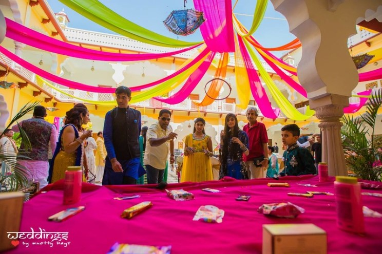 Guests playing games   #JustMaaruThings – Ideas to Celebrate your Teej Function in style