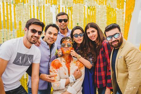 Abheshek & Smily   Chandigarh Weddings   Candid pictures   Haldi ceremony   Groomsmen   Indian wedding Photography   Flower decor   Haldi pictures  
