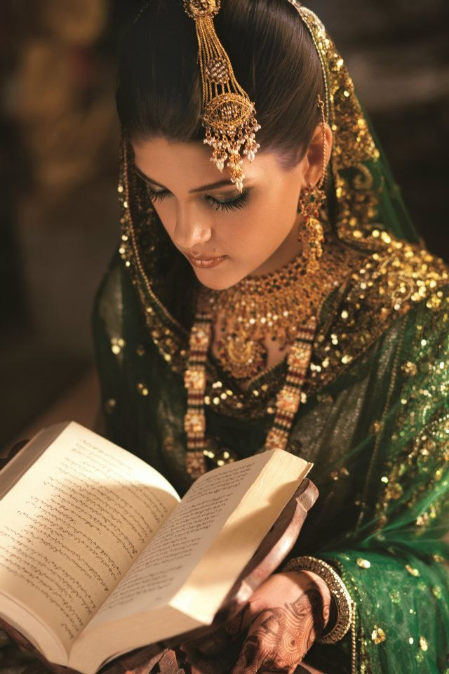 bride reading a book