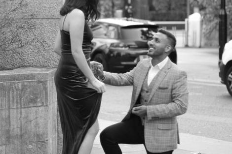 Shiv and Ela   Surprise proposal   Proposal at Love Lane   Engagement Ring   Plan a Proposal   Proposal Ideas for Indian couples   Candid Photography  